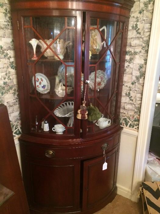 Unique Duncan Phyfe corner cabinet