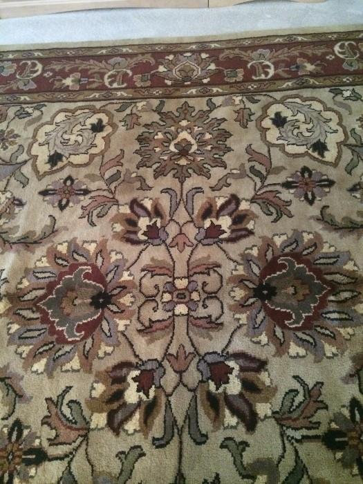 9 x 9 handmade Mahae rug