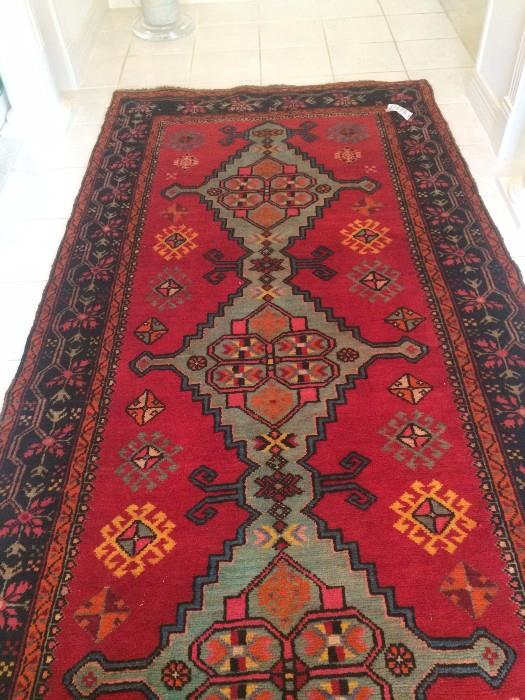 4.4 x 9.5  Russian Kazak rug
