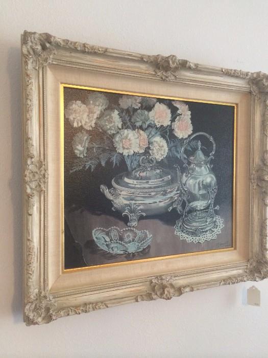 D. Logan Hill, of Carmel, framed oil