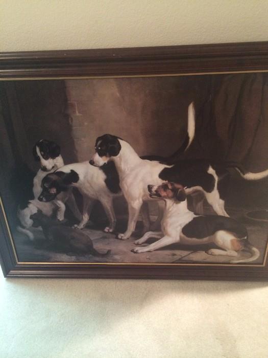 Framed dog art