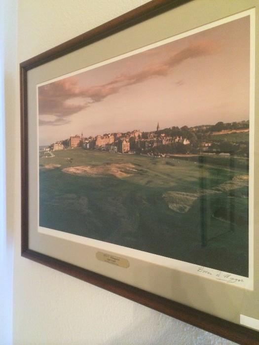 Brian D Mongar signed art of St Andrews