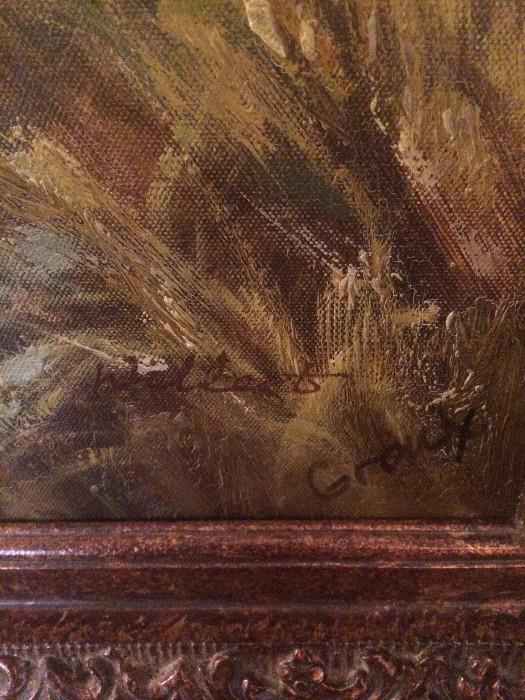 Fabulous pastoral scene framed art
