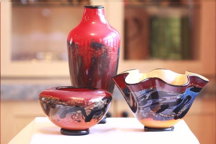 Micheal Nourot art glass pieces - www.nourot.com.