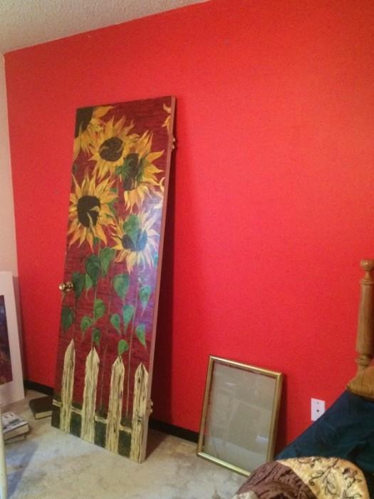 an original by melinda, on a door!