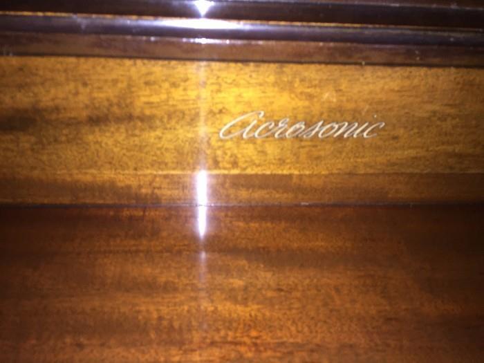 ACROSONIC PIANO BY BALDWIN