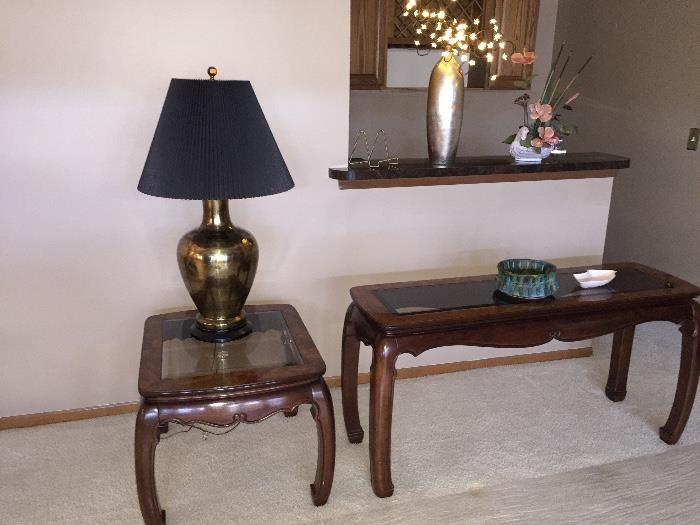 GORGEOUS AMERICAN FURNITURE CLASSICS ( SOFA TABLE AND SIDE TABLE)