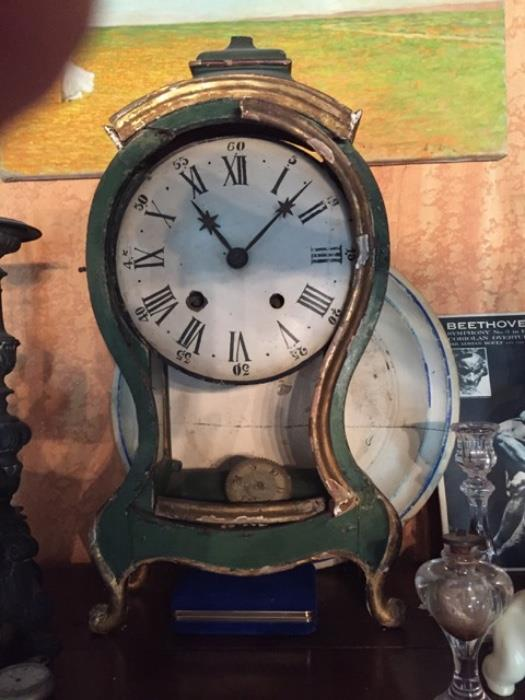 This is 1 of 2 antique clocks.  This one is being sold as-is.