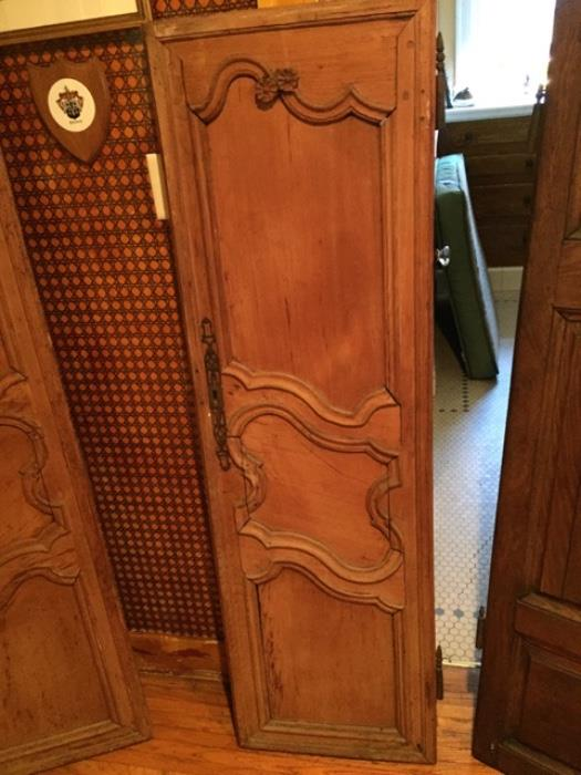Antique salvaged armoire doors