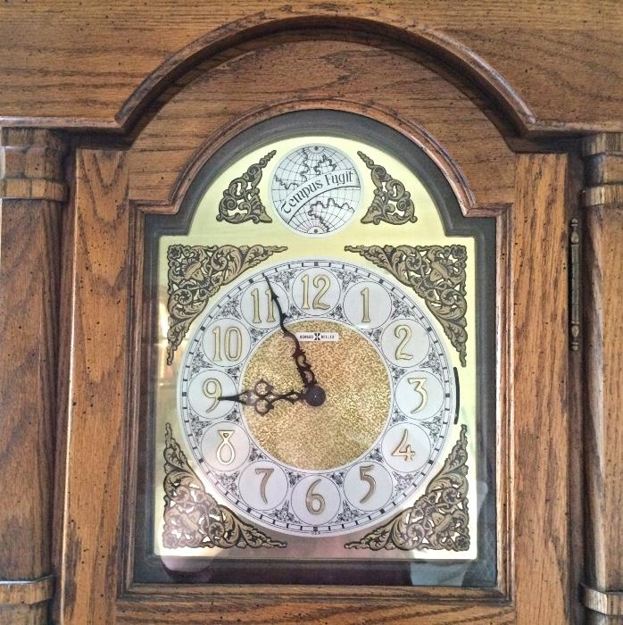 Close Up Howard Miller Tempus Fugit Grandfather Clock