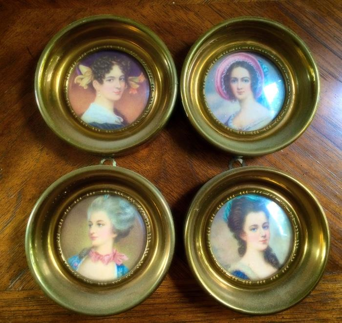 Victorian Style Brass Framed Portraits by A Cameo Creation
