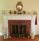 Brass Candle Holders, Urns, Cherub Candle Holders, Compote, Mantle Broom, Decorative Figures, Fireplace Tools & More