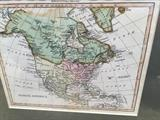 Map of North America from Adam's Atlas dated 1803