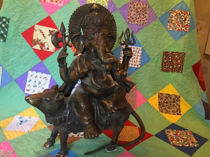 large bronze Ganesh statue