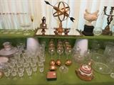 More Elegant Items. The Glasses In The Middle With the Gold Rims Are Tiffin Franciscan Westchester.