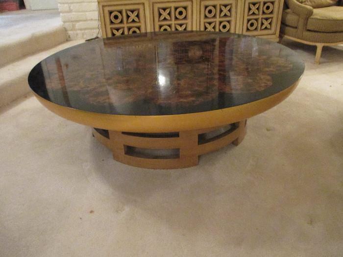 Round Kittinger Hollywood Regency Coffee Table