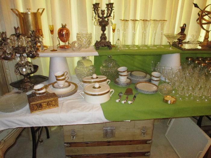 More Elegant China and Glassware