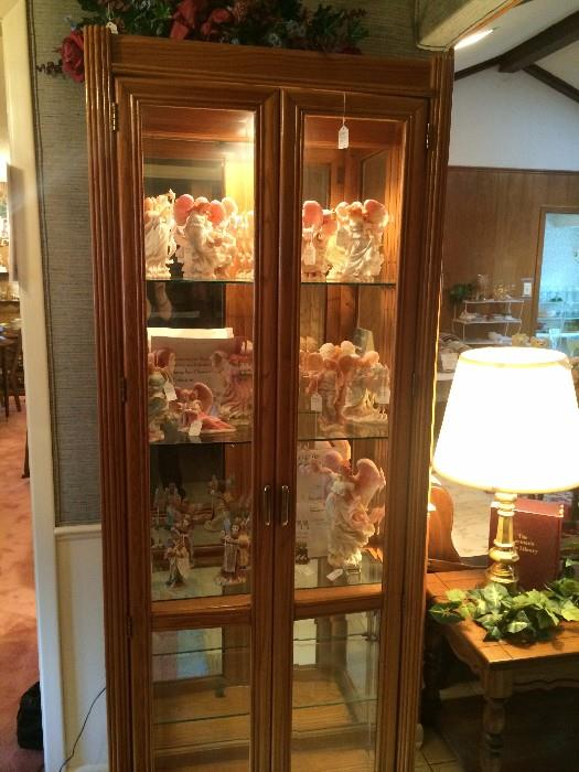 Four shelf lighted display cabinet