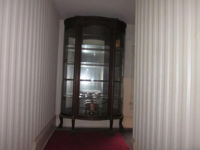 Beautiful Curio with curved glass.  Lousy picture, sorry...
