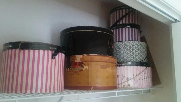 Woo Hoo: Jackpot! A closet of vintage hats and hat boxes. No Jack McConnells here...