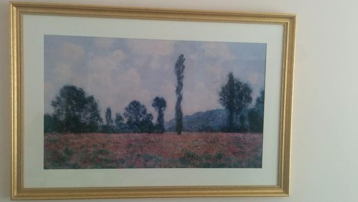 Nice frame, nice matting, but very formulaic Italian field/mountain art. There's much better, you'll see!