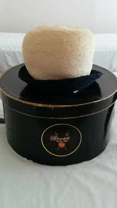 Cool vintage hat/box, from Churchill Hats, Ltd.