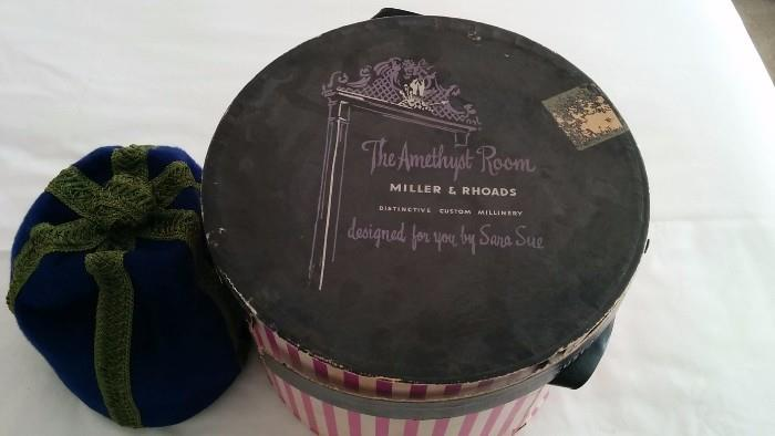 Yet another vintage hat/box, from, love this, The Amethyst Room, Miller & Rhoads, Richmond, VA