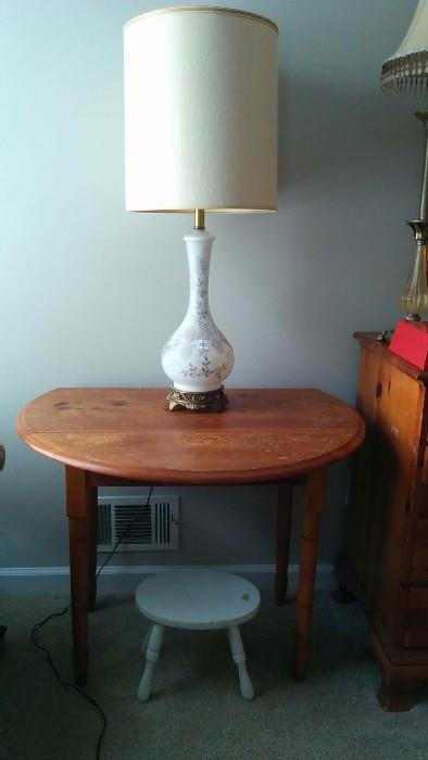 Nice old heart pine drop-leaf side table