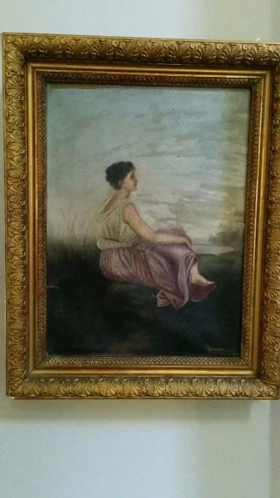 Original, artist signed oil painting, great frame too!