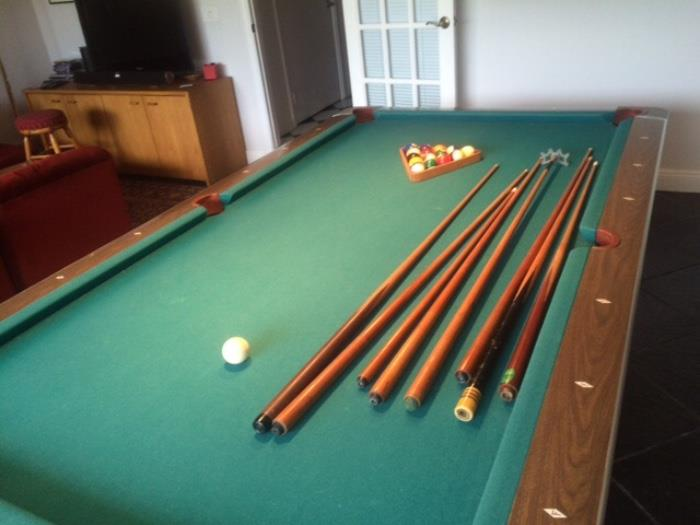 """This fabulous """"Fischer Pool Table""""has accessories! Available Immediately..."""
