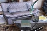 Nicoletti Salotti leather sofa in excellent condition - very rare lavender color - comes with a matching sofa