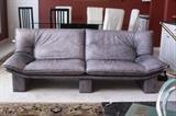 Nicoletti Salotti leather sofa in excellent condition - really rare lavender color - comes with a matching loveseat
