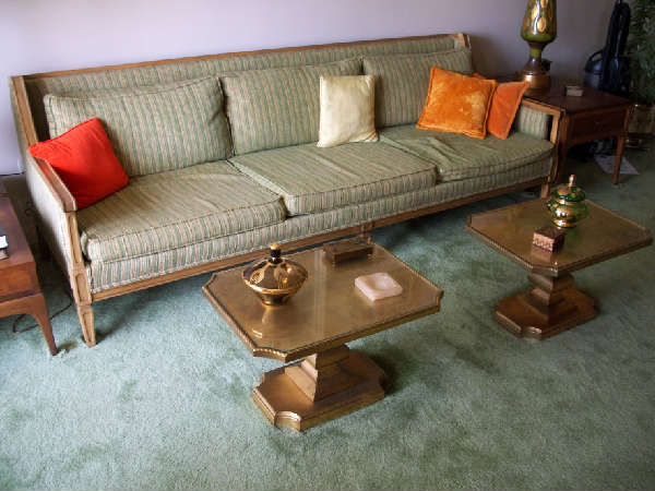 Come on Design Stars--Steam clean or new fabric? Can you can make this Hollywood Glam sofa sing?