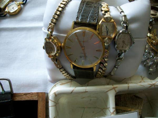 Vintage diamond & gold watches, vintage jewelry, rhinestones, necklaces, earrings, bracelets & rings!