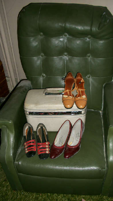 Vintage shoes from Josephs! Train cases...