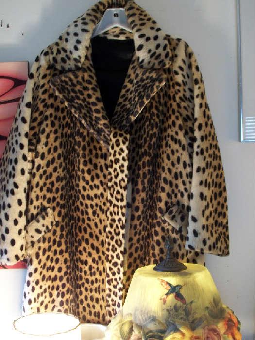 Vintage leopard skin coat