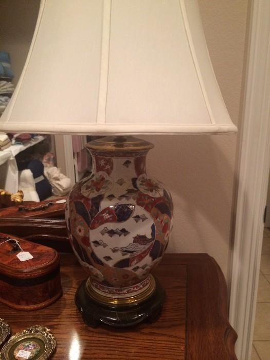 One of two extra nice Asian lamps