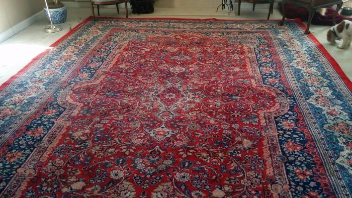 Another shot of the Persian Kerman rug - this is the light side of the rug.