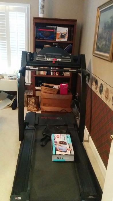 Eat all the doughnuts you want, while sitting at your Louis Phillipe desk, by Aspen, then jump on this treadmill to work of those empty calories!