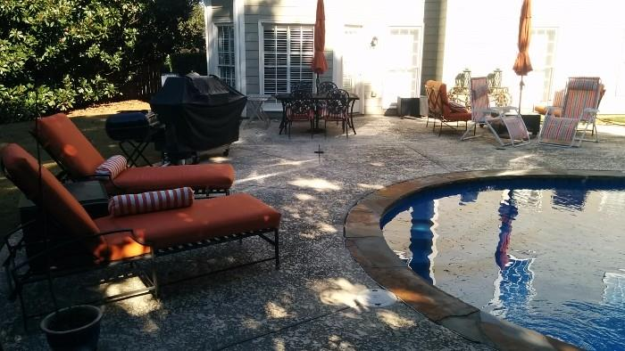 Very relaxing back yard. The weather promises to be great during our sale, so bring your Speedos and show us the money!                                                                              This will be the sale that we institute clothing optional swim parties after closing hours.
