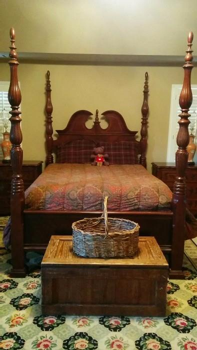 Texas-sized queen bed, purchased at Weirs, Dallas, TX
