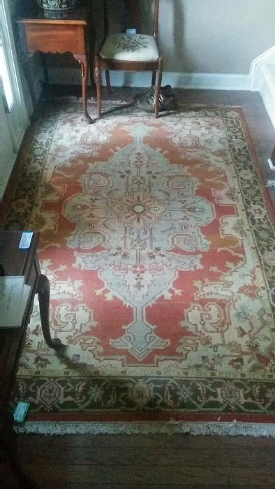 Better pic of the 5' x 8' Heriz style carpet