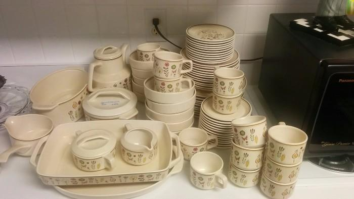 """Here's that complete set of Lenox Temperware, """"Sprite"""" pattern - 84 pieces of it!"""