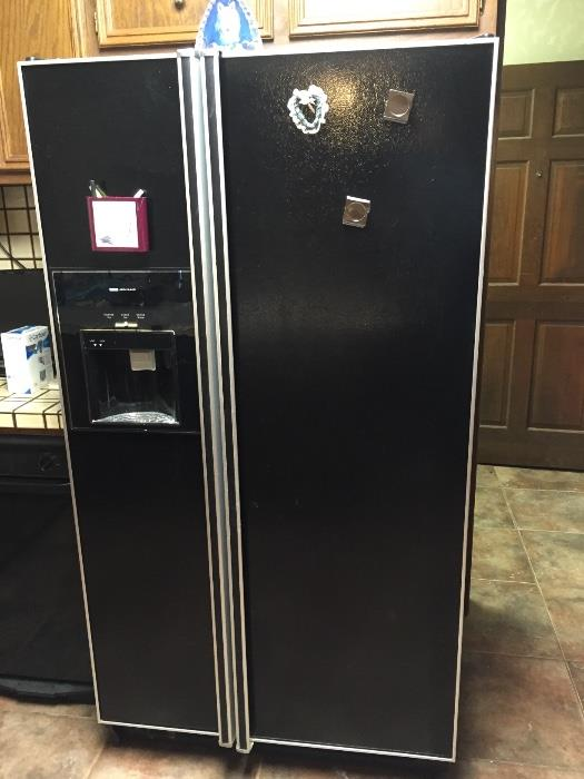 Jenn air side-by-side refrigerator freezer