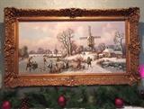 Antique Dutch oil painting.