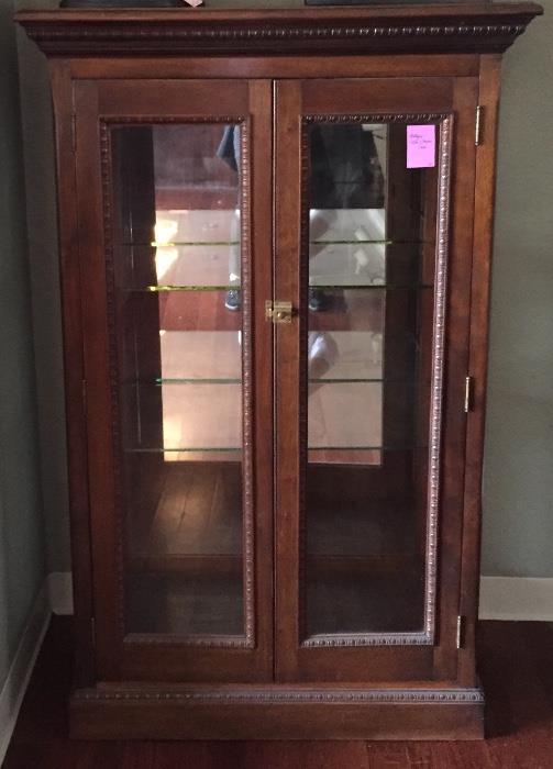 Antique curio/trophy cabinet.