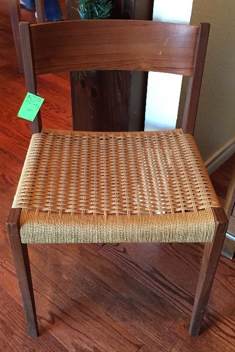 Danish teak side chair