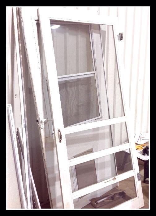Screen door, glass door