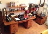 Kenwood Mid Century executive desk and file cabinet. Run your Empire in style Hipster