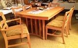 Mid Century dining set. Dog bone chairs are in the style of Heywood Wakefield. Spruce up your mod home for the holidays